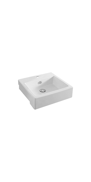 "0284 - ""FLIC"" one hole semi recessed basin 475"