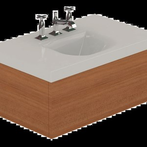 lavabo con mobile in hemlock