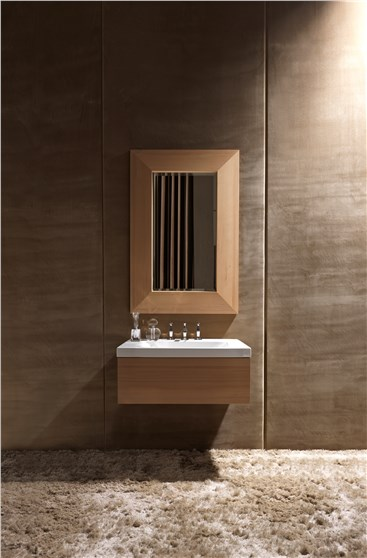 lavabo con mobile in frassino scuro cod 3936, lavabo con mobile in frassino scuro cod 9174, Specchio sospeso in frassino scuro cod 9181